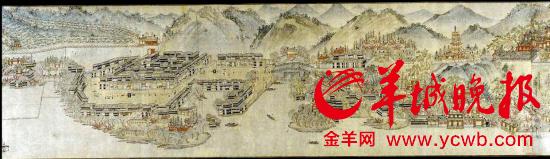 """""""南宋西湖全景图""""(局部)"""