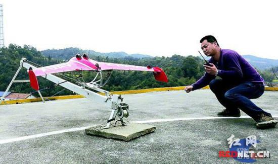 岳阳:小型无人机首飞成功历时30分钟左右