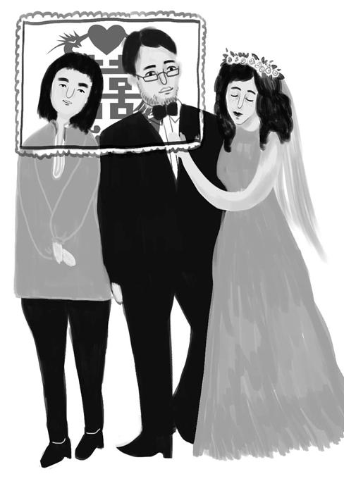 男子接找到新娘婚另找美女替