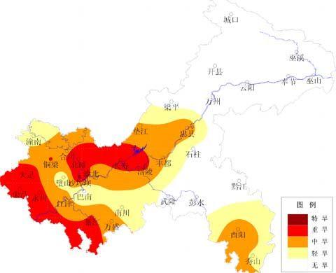 持续 部分地区气象旱情严重