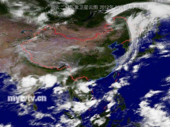 30分风云二号气象卫星云图-近日大雾天气频繁现身贵州辽宁等地图片