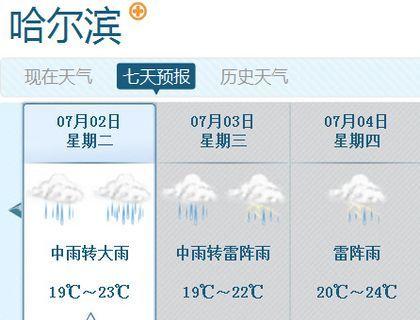 哈尔滨未来三天天气预报图-东北迎今年最强降雨 多地达暴雨级别