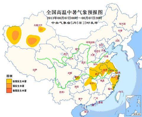 高温中暑气象预报 安徽浙江新疆易发生中暑