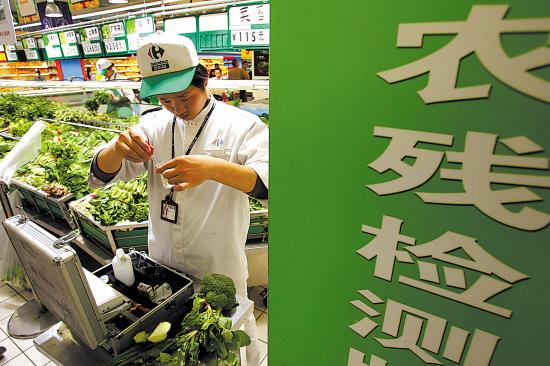 蔬菜农药残留超市当场检测