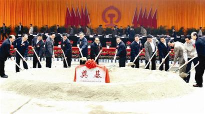 图文:武汉城市圈四条城际铁路动工
