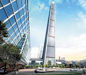 天津开建亚洲第一高楼597米顶层建游泳池(图)