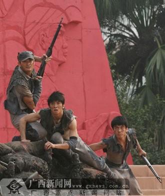 总政歌舞团演员表演舞蹈《父辈》.广西新闻网记者 梁凯昌摄-百色起