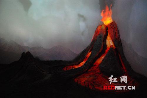 (模拟火山爆发.)