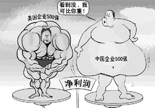 """中美差距500强企业:中国500强普遍""""虚胖""""(图)有没有专门瘦腿的药?图片"""