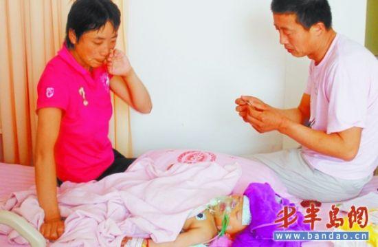 一岁女童反复发烧患坏死性脑炎
