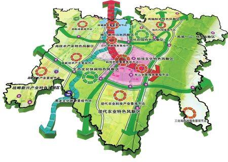 天府新区总体特色风貌规划图