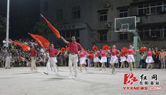 全民健身日岳阳县举办篮球邀请赛
