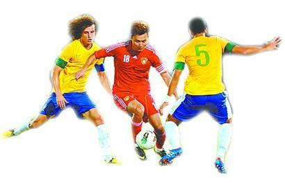 史上最惨失利国足0:8巴西