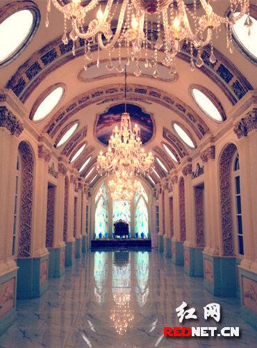 实景拍摄基地欧式宫廷走廊