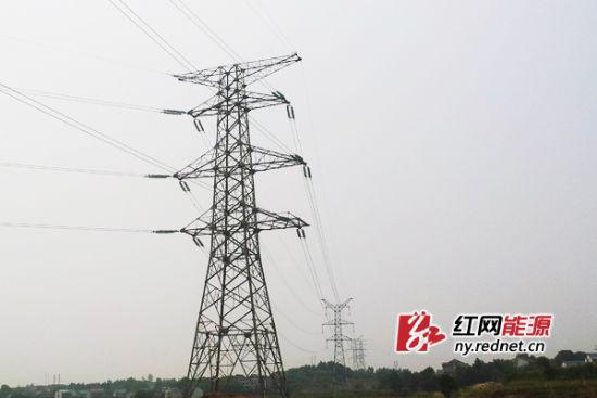 攸县电厂220KV送电线路工程7月25日投运送电