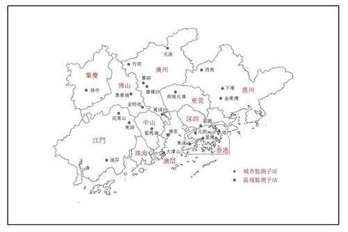 粤港澳珠江三角洲区域空气监测网络.图取自澳门特区政府网站