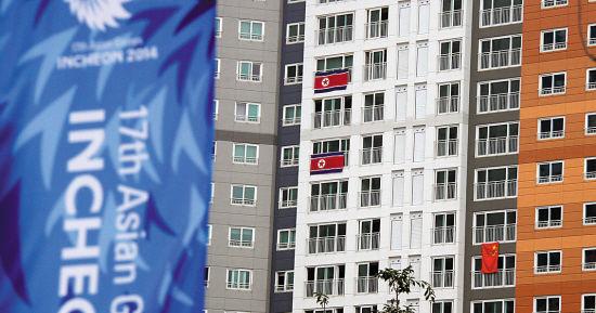 韩国街道禁挂朝鲜国旗