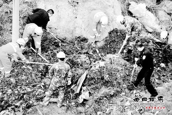 兰州:垃圾山轰然垮塌埋住拾荒者紧急搜救6小时依然无果(图)