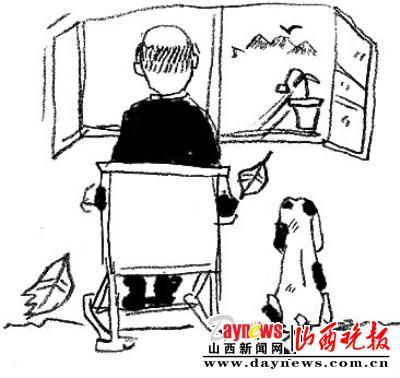 学校到家的手绘图