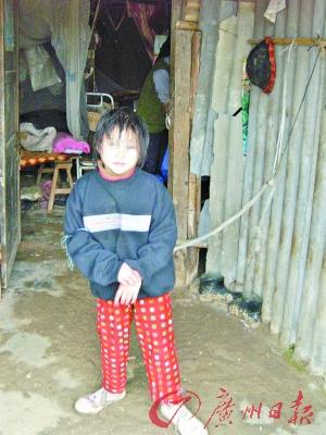 10岁智障女童被父母用绳索拴在家中6年(图)