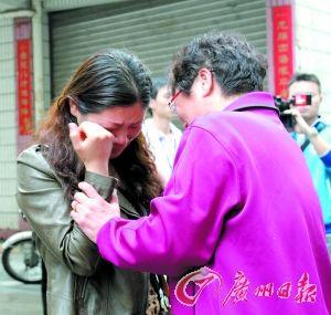触电女子伤心不已。记者杨勤 摄