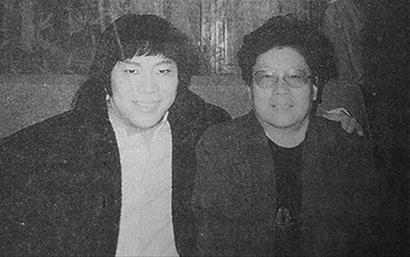 资料图:刘幼贞与香港明星梁小龙(左)。