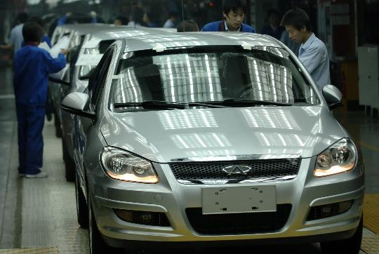图文:忙碌有序的安徽芜湖奇瑞汽车生产线
