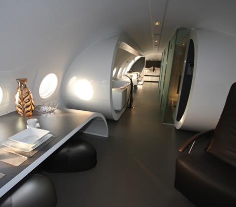 环保人士将飞机改造成豪华酒店套房(组图)