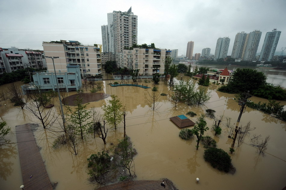 今年首次最大洪峰过重庆合川