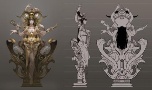 《中华龙塔》骑士八大精神雕塑之――荣誉