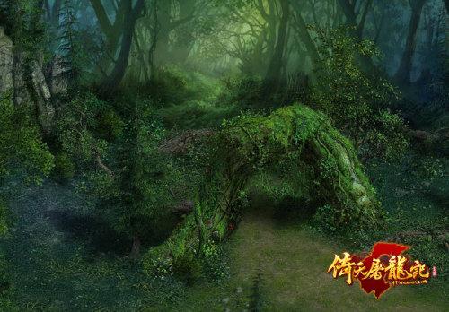 图3:《倚天屠龙记》实景截图-密林