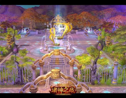 图3 中心广场流光溢彩
