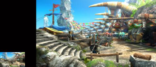 《怪物猎人3G高清版》3DS/WiiU画面对比