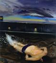 刘小东作品赏析:《楼顶泳池》