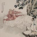 高云作品《十八罗汉之挖耳罗汉》68x68