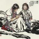 藏族母女 100cm×100cm 2000年
