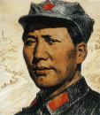 毛泽东同志在陕北40cm×50cm,1968年