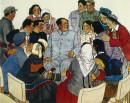 毛主席和青年人在一起100cm×120cm,1965年
