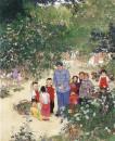 枣园桃李120cm×100cm,1962年