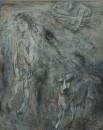 1987年 《潮》油画 100x80cm