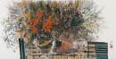 《飞舞的阳光》彩墨2012年 65cm×136cm