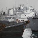 中国渔政5号100x100cm 2013年布面油画