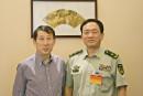 与武装警察部队副总司令戴肃军中将在张家界