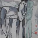 小马驹  33x33cm