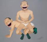 岳敏君作品欣赏 《关系1》 2003年作