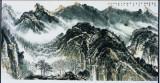 于无意处见精神,136x68cm,中国画,2011年,许钦松500