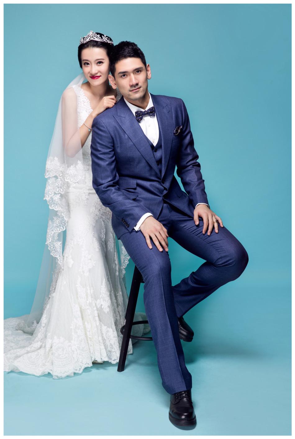 钟诚和美妻结婚写真