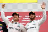 图文-F1日本站正赛 罗斯博格与汉密尔顿