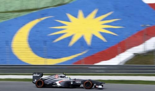 图文-F1马来西亚站第1次练习 索伯车队古铁雷兹