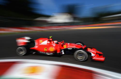 图文-F1比利时站排位赛 法拉利车队莱科宁